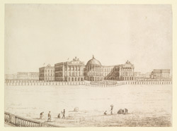 South-west side of Government House, Calcutta